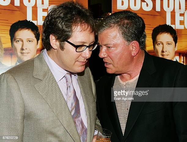 LR Actors James Spader and William Shatner attend the Fox Home Entertainment Boston Legal DVD release celebration at The Museum of Television Radio...