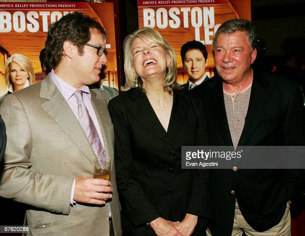 Actors James Spader Candice Bergen and William Shatner attend the Fox Home Entertainment Boston Legal DVD release celebration at The Museum of...