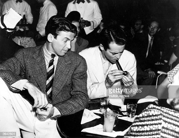 Actors James Stewart and Henry Fonda at Slapsy Maxies Cafe