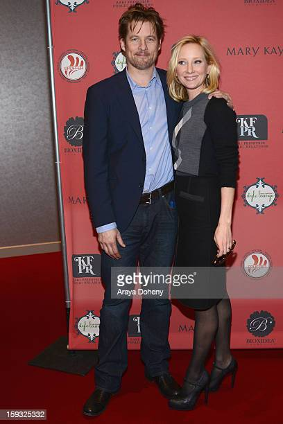 Actors James Tupper and Anne Heche attend Kari Feinstein's PreGolden Globes Style Lounge at the W Hollywood on January 11 2013 in Hollywood California