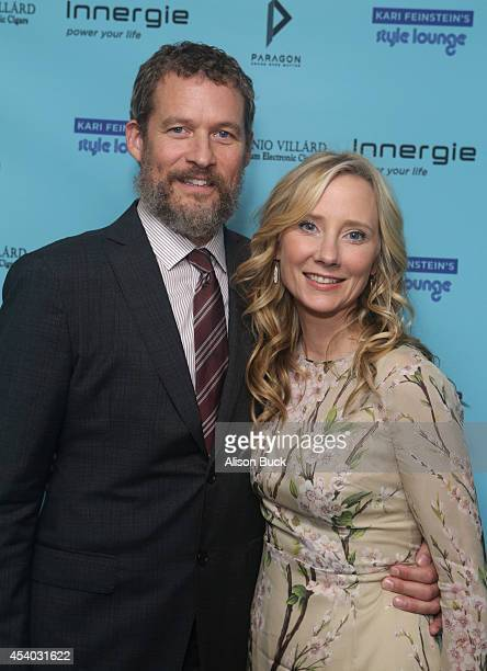Actors James Tupper and Anne Heche attend Kari Feinstein's Style Lounge presented by Paragon at Andaz West Hollywood on August 23 2014 in Los Angeles...