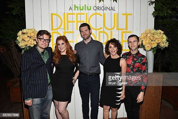 Actors James Urbaniak Julie Klausner Billy Eichner Andrea Martin and Cole Escola attends the Hulu original Difficult People FYC event at the Standard...
