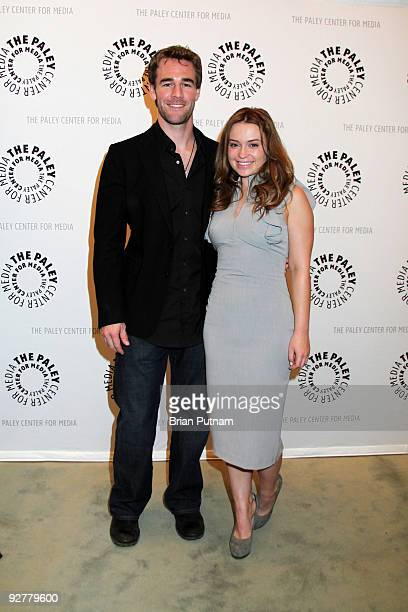 Actors James Van Der Beek and Monica Keena attend 'Dawson's Creek A Look Back' at The Paley Center for Media on November 4 2009 in Beverly Hills...