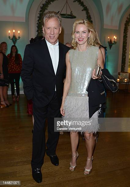 Actors James Woods and Naomi Watts arrive at Vanity Fair and Gucci Party at Hotel Du Cap during 65th Annual Cannes Film Festival on May 19, 2012 in...