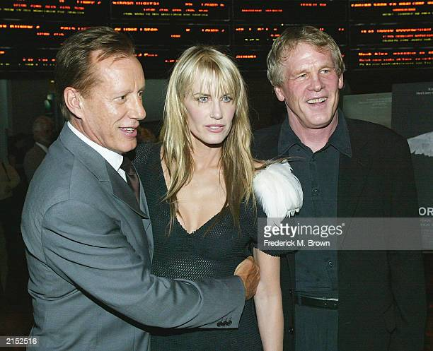 Actors James Woods Daryl Hannah and Nick Nolte attend the premiere of Paramounts Northfork at Joseph's Cafe on July 10 2003 in Hollywood California