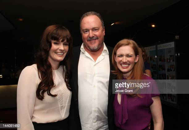 Actors Jamie Anne Allman Brent Sexton and Mireille Enos attend 'The Killing' ATAS Screening and Panel at the Leonard H Goldenson Theatre on May 8...