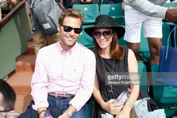 Actors Jamie Bamber and his wife Kerry Norton attend the 2017 French Tennis Open - Day Height at Roland Garros on June 4, 2017 in Paris, France.