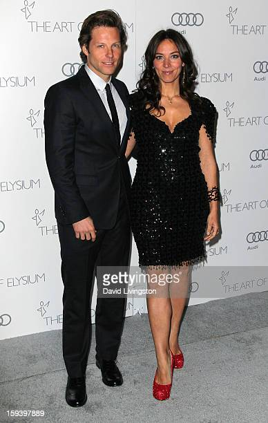 Actors Jamie Bamber and Kerry Norton attend the Art of Elysium's 6th Annual Blacktie Gala Heaven at 2nd Street Tunnel on January 12 2013 in Los...
