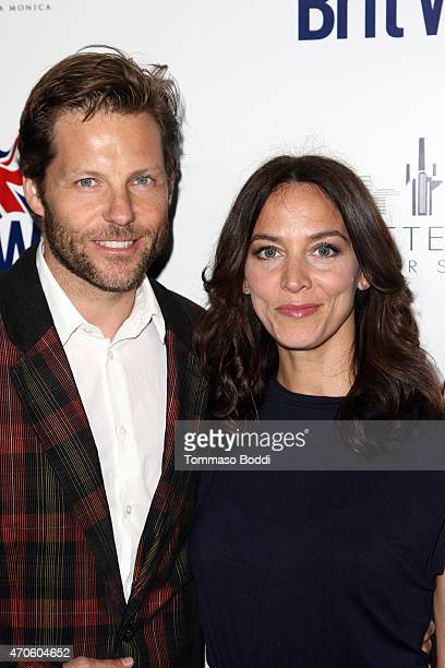Actors Jamie Bamber and Kerry Norton attend the BritWeek 2015 9th annual Brit Week red carpet launch at British Consul Generals Residence on April 21...