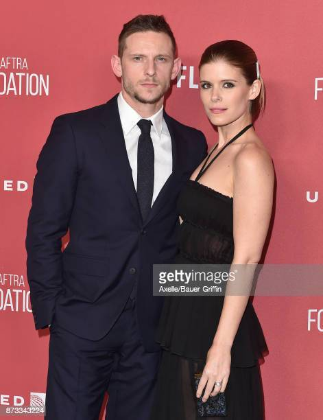 Actors Jamie Bell and Kate Mara arrive at SAGAFTRA Foundation Patron of the Artists Awards 2017 on November 9 2017 in Beverly Hills California