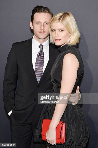 Actors Jamie Bell and Kate Mara attend the premiere of 'Past Forward' a movie by David O Russell presented by Prada on November 15 2016 at Hauser...