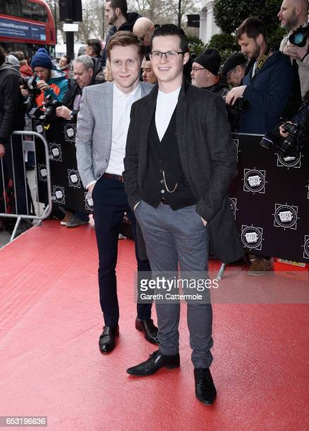 Actors Jamie Borthwick and Harry Reid attend the TRIC Awards 2017 on March 14 2017 in London United Kingdom