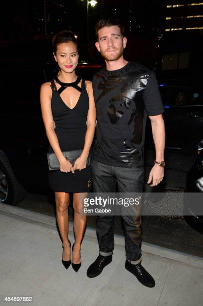 Actors Jamie Chung and Bryan Greenberg attend the Versus Versace fashion show during MercedesBenz Fashion Week Spring 2015 at Metropolitan West on...