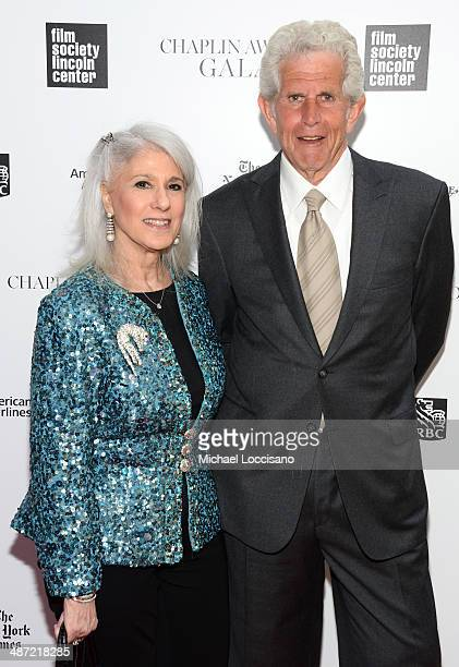 Actors Jamie Deroy and Tony Roberts attend the 41st Annual Chaplin Award Gala at Avery Fisher Hall at Lincoln Center for the Performing Arts on April...