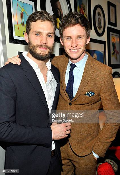 Actors Jamie Dornan and Eddie Redmayne attend the W Magazine celebration of the 'Best Performances' Portfolio and The Golden Globes with Cadillac and...