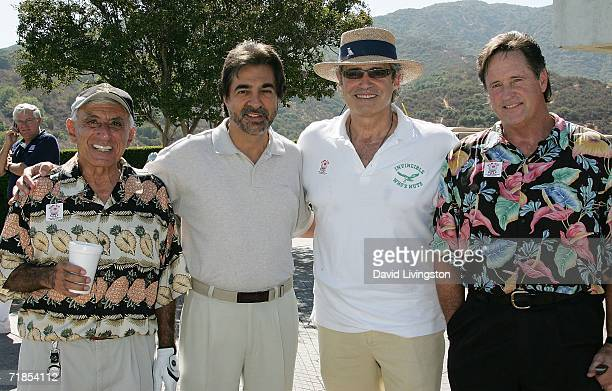 Actors Jamie Farr Joe Mantegna Michael Nouri and Robert Hays attend the 2nd Annual Greater LA USO Celebrity Golf Tournament at the Braemar Country...