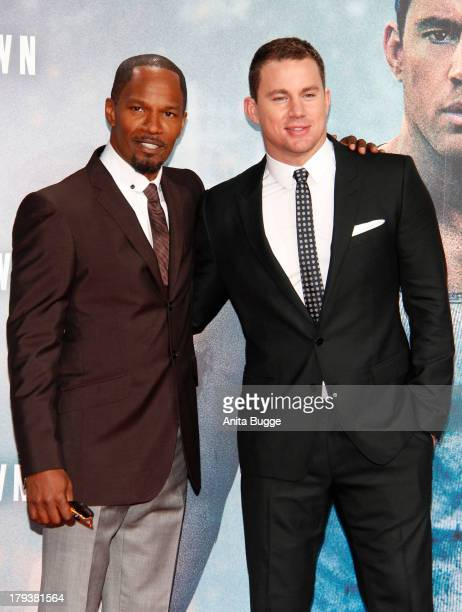 Actors Jamie Foxx and Channing Tatum attend at 'White House Down' Germany premiere at CineStar on September 2 2013 in Berlin Germany