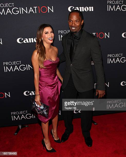 Actors Jamie Foxx and Eva Longoria attend Canon's 'Project Imaginat10n' Film Festival opening night at Alice Tully Hall at Lincoln Center on October...