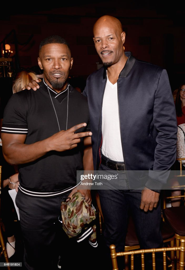 Actors Jamie Foxx and Keenan Ivory Wayans attend the Sherri Hill NYFW SS18 Runway Show at Gotham Hall on September 12, 2017 in New York City.