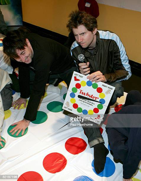 Actors Jamie Kennedy and Alan Cumming take part in a 'Son of the Mask' event at The Children's Museum of Manhattan on February 14 2005 in New York...