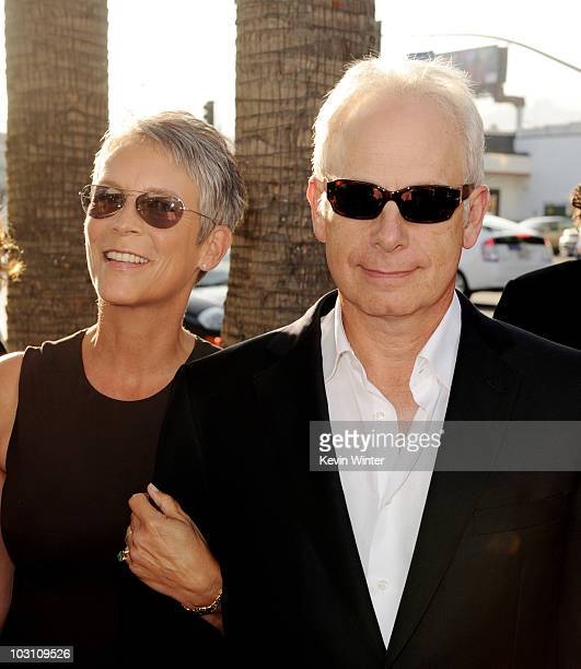 Actors Jamie Lee Curtis and husband Christopher Guest arrive at the premiere of Warner Bros Flipped at the Cinerama Dome Theater on July 26 2010 in...