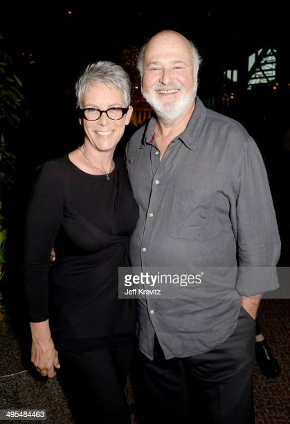Actors Jamie Lee Curtis and Rob Reiner attend the Los Angeles Premiere of the new HBO documentary 'The Case Against 8' at DGA Theater on June 3 2014...