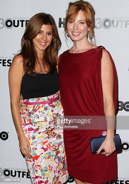 Actors JamieLynn Sigler and Alicia Witt attend the premiere of 'I Do' for the 2012 Outfest at the John Anson Ford Amphitheatre on July 18 2012 in...