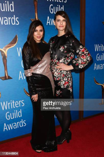 Actors JamieLynn Sigler and Lindsey Kraft attend the 2019 Writers Guild Awards LA ceremony at The Beverly Hilton Hotel on February 17 2019 in Beverly...