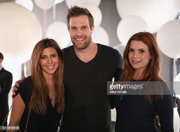Actors JamieLynn Sigler Geoff Stults and JoAnna Garcia attend smartwater sparkling celebrates Jennifer Aniston and St Jude's Children's Hospital at W...