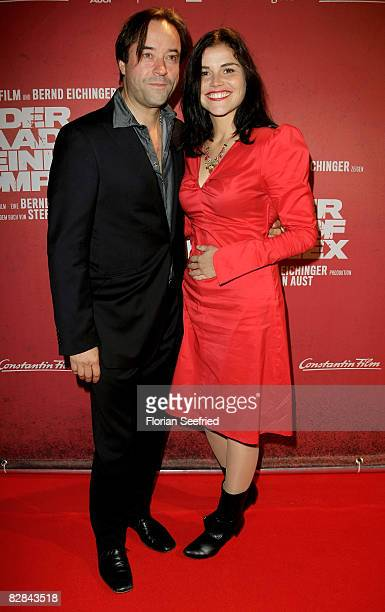 Actors Jan Josef Liefers and Katharina Wackernagel attend the 'The Baader Meinhof Complex' German Premiere at Mathaeser Cinema on September 16 2008...