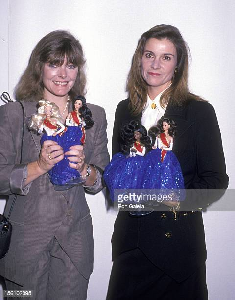 Actors Jane Curtin and Susan Saint James attend the 'United Nations Reception to Premiere a Special Edition of Barbie Dolls' on October 16 1989 at...