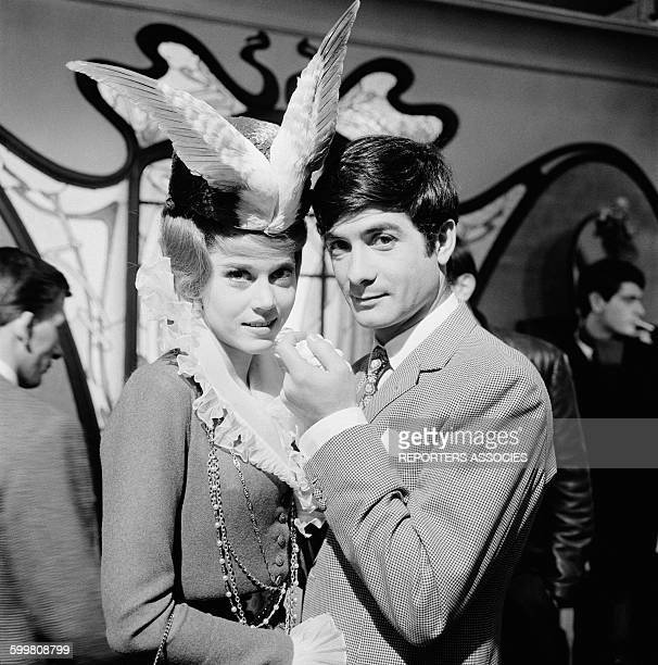 Actors Jane Fonda and Jean-Claude Brialy On The Set Of The Movie 'La Ronde' - 'Circle of Love' - Directed By Roger Vadim, in Paris, France, in...