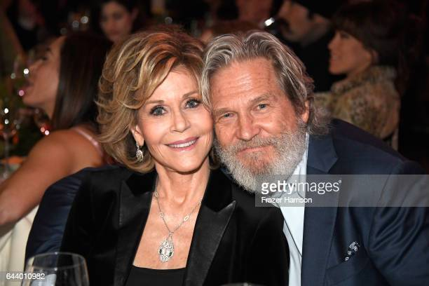 Actors Jane Fonda and Jeff Bridges attend the 14th Annual Global Green Pre Oscar Party at TAO Hollywood on February 22 2017 in Los Angeles California