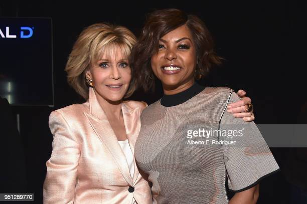 Actors Jane Fonda and Taraji P Henson attend the CinemaCon 2018 Paramount Pictures Presentation Highlighting Its Summer of 2018 and Beyond at The...