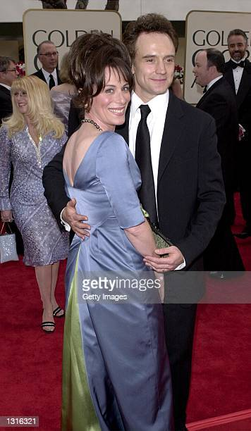Actors Jane Kaczmarek and Bradley Whitford attend the 58th Annual Golden Globe Awards held at the Beverly Hills Hotel January 21 2001 in Beverly...