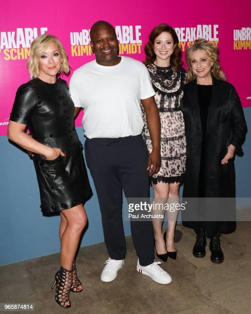 Actors Jane Krakowski Tituss Burgess Ellie Kemper and Carol Kane attend Universal Television's FYC of the Unbreakable Kimmy Schmidt at UCB Sunset...