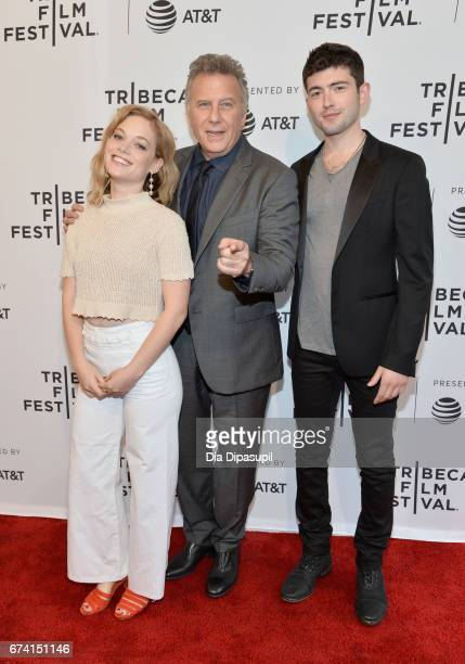 Actors Jane Levy Paul Reiser and Ian Nelson attend the 'There's Johnny' Premiere during the 2017 Tribeca Film Festival at SVA Theater on April 27...