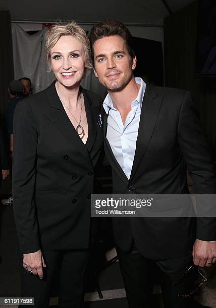 Actors Jane Lynch and Matt Bomer attend the MPTF 95th anniversary celebration with 'Hollywood's Night Under The Stars' at MPTF Wasserman Campus on...
