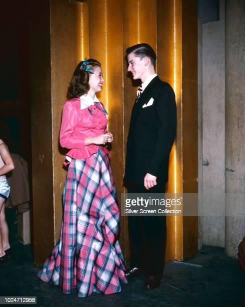 Actors Jane Powell and Roddy McDowall circa 1947
