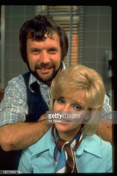 Actors Jane Rossington and Edward Clayton in television soap Crossroads, circa 1975.