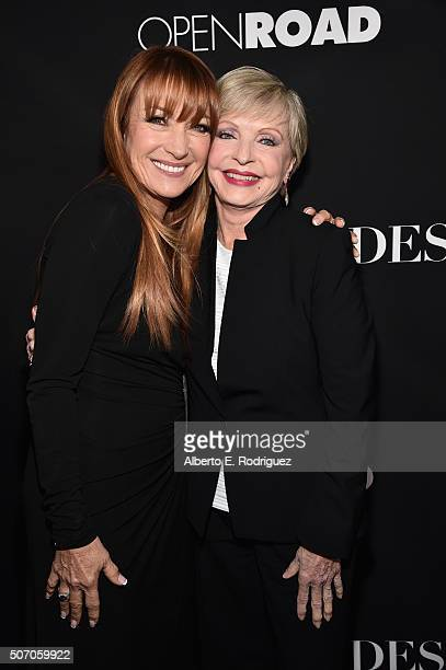 Actors Jane Seymour and Florence Henderson attends the premiere of Open Road Films' 'Fifty Shades of Black' at Regal Cinemas LA Live on January 26...
