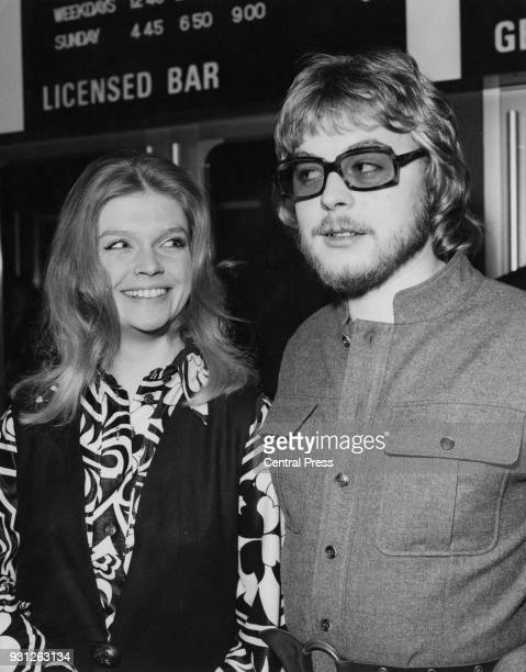 Actors Janet Key and Hywel Bennett , stars of the British comedy film 'Percy', arrive at the ABC1 Cinema in Shaftesbury Avenue, London, for the...