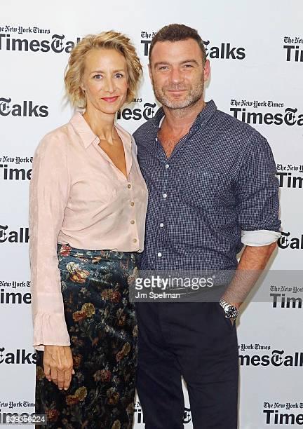 Actors Janet McTeer and Liev Schreiber attend TimesTalks Presents Les Liaisons Dangereuses stars Janet McTeer and Liev Schreiber at Merkin Concert...