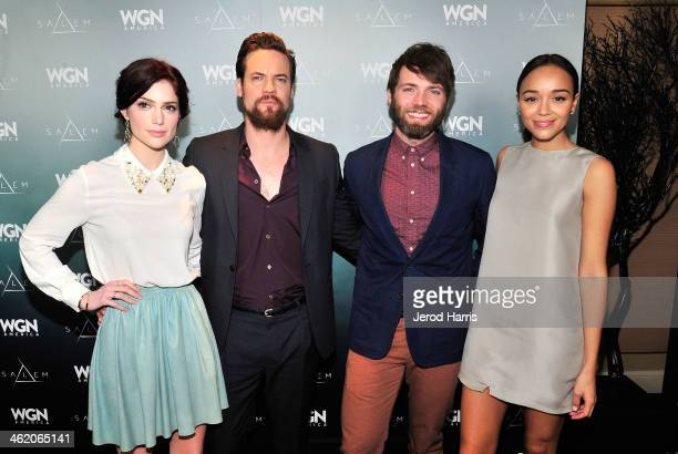 Actors Janet Montgomery, Shane West, Seth Gabel, and Ashley Madekwe attend WGN America's Presentation of the upcoming drama 'SALEM' premiering Spring...