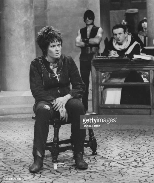 Actors Janet Suzman and Colin Blakely in a scene from the BBC Play of the Week 'St Joan' April 11th 1968