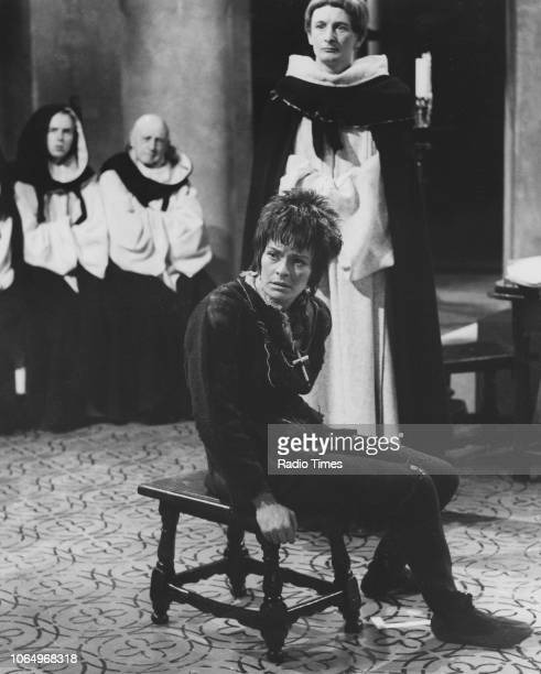 Actors Janet Suzman and Ronald Pickup in a scene from the BBC Play of the Week 'St Joan' April 11th 1968