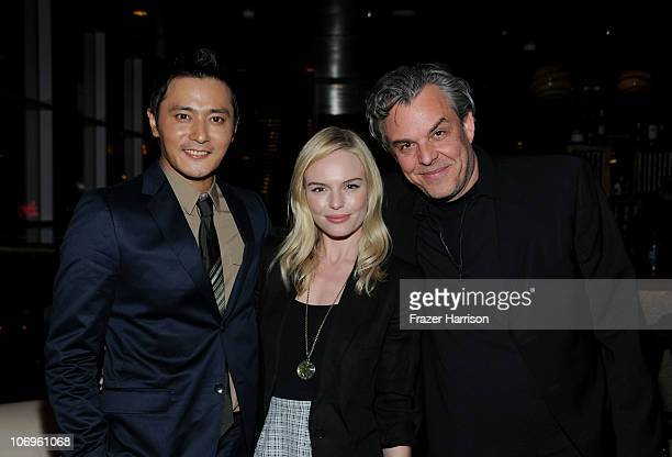 """Actors Jang Dong-gun, Kate Bosworth and Danny Huston attend """"The Warrior's Way"""" junket panel held at the Landmark Theatre on November 18, 2010 in Los..."""