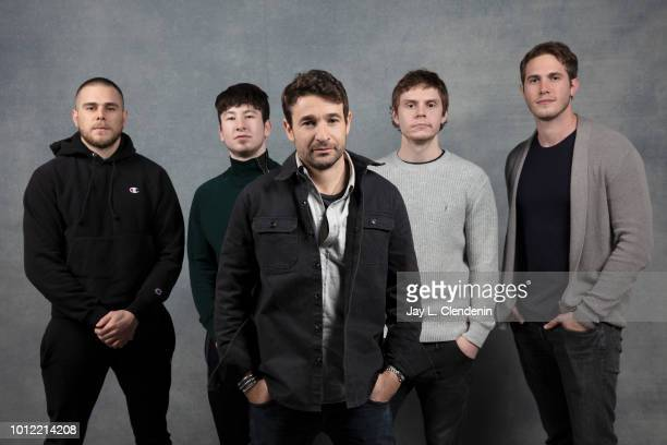 Actors Jared Abrahamson Barry Keoghan Evan Peters Blake Jenner and filmmaker Bart Layton from the film American Animals are photographed for Los...