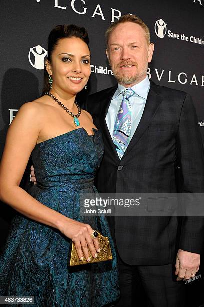Actors Jared Harris and Allegra Riggio attend BVLGARI and Save The Children STOP THINK GIVE PreOscar Event at Spago on February 17 2015 in Beverly...