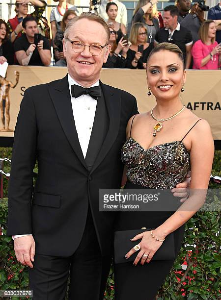 Actors Jared Harris and Allegra Riggio attend The 23rd Annual Screen Actors Guild Awards at The Shrine Auditorium on January 29, 2017 in Los Angeles,...